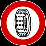 divieto pneumatici invernali